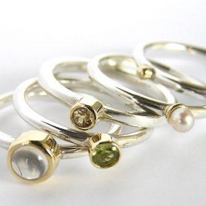 Tuula Harrington's Irish-made and designed birthstone stacking rings