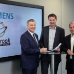 Pictured at Siemens Birmingham office for the official signing of the distribution contract are Seabrook Technology Group's Managing Director Sean O'Sullivan, Siemens PLM Software Indirect Sales Director Nick Farrall, and Siemens PLM Software Vice President of Global Solution Partner Sales, Jeff Zobrist.