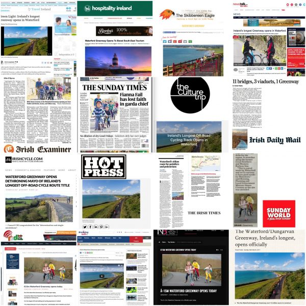 Media Coverage of Waterford Greenway